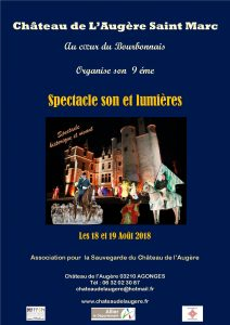 spectacle son et lumières @ Chateau de l'Augere